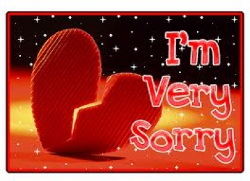 I  am Very Sorry - Heart Broken - Love Symbol