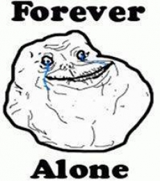 Forever Alone - Crying trollface