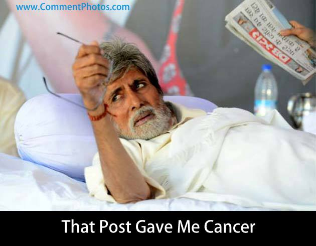 That Post Gave Me Cancer - Angry Amitabh Bachan in Bedrest