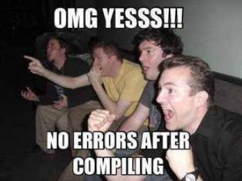 OMG Yesss. No Error After Compiling