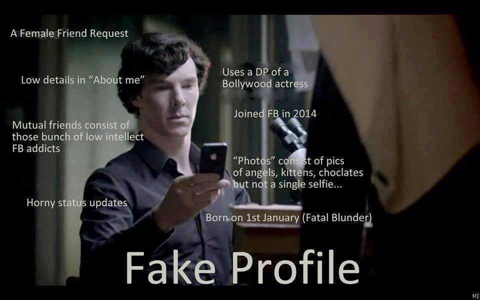 Sherlock Holmes detects a Facebook Fake Profile