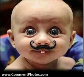 Funny Baby with Moustache - CommentPhotos.com - Others ...