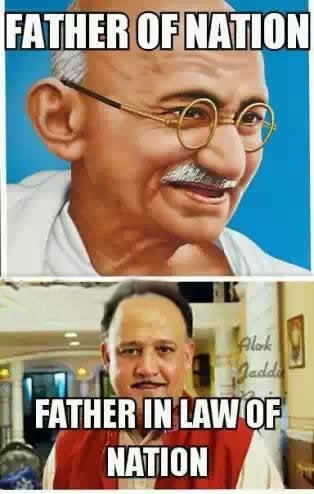 Father Of Nation and Father In Law Of Nation - Gandhiji and Alok Nath