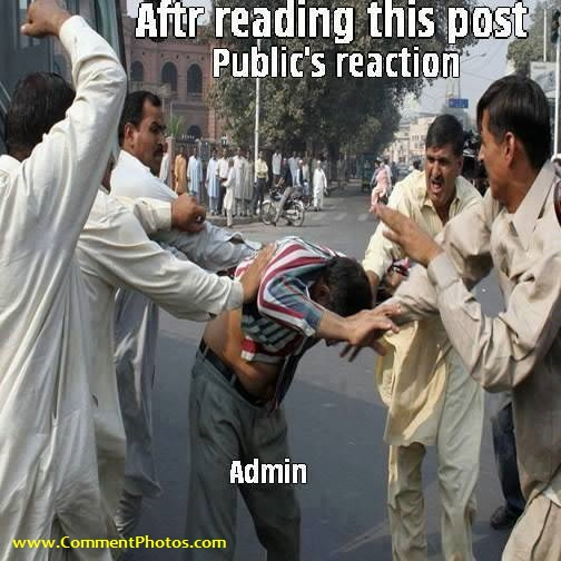 Publics Reaction to Admin After Reading this Post - Beat Admin for Stupid post
