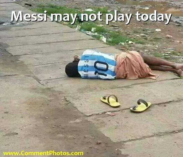 Messi may not Play Today due to Injury