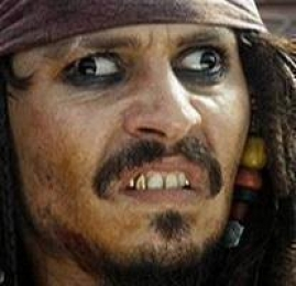 Jack Sparrow Derp Funny Face Expression - Pirates Of Caribbean
