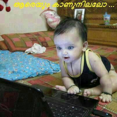 aareyum kaanunnillallo aareyum kaanunnillallo baby waiting online using laptop thecheapjerseys Gallery