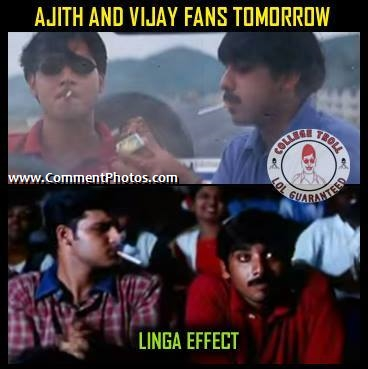 Ajith Fans and Vijay Fans Watching Lingaa, Rajnikanth Film