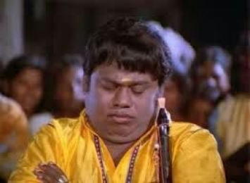 Senthil Funny Listening Sleeping Expression Reaction - Sleepy Mood