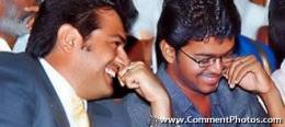 Thala Ajith and Ilaiyathalapathy Vijay Laughing Togethor -  Actors Friendship