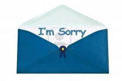 I am Sorry - Mail Opened Letter
