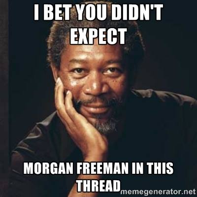 I Bet You Didnt Expect Morgan Freeman In This Thread - Commenting