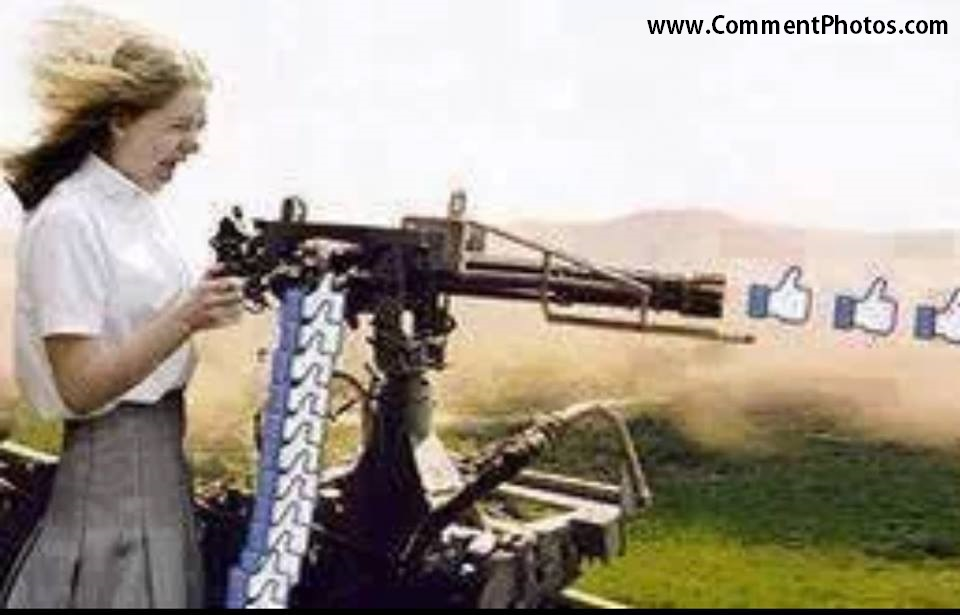 Machine Gun Likes - Hitting Likes with Machine gun