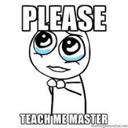Please teach me!!?