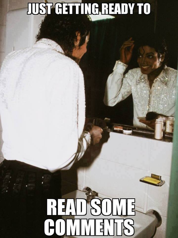 Just Getting Ready to Read Some Comments - I Just Came Here To Read The Comments - Michael Jackson Eating Popcorn - Thriller Theatre