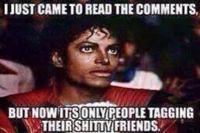 I Just Came Here To Read The Comments But Now Its Only People Tagging Their Shitty Friends - Michael Jackson Eating Popcorn - MJ in Thriller Theatre