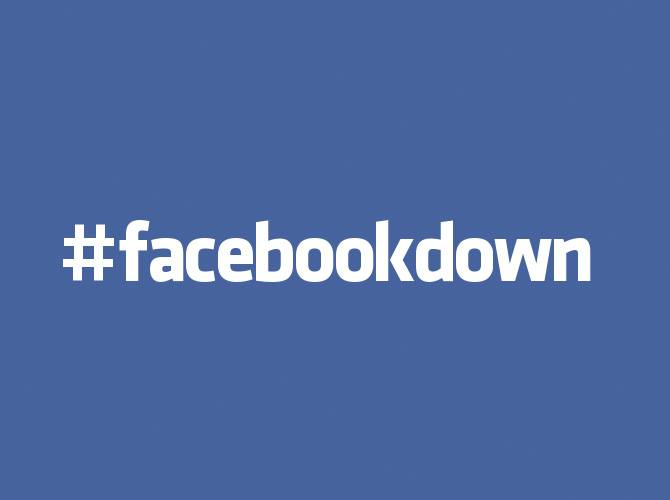 #FacebookDown - Facebook Website Server Down Hashtags