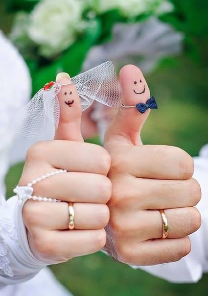 Liked It - Newly Married Couple Thumbs Up