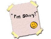 I am Sorry - Paper Stickered