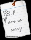 I am Sorry - Notebook Paper