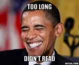 Too Long Didnt Read - Barack Obama Laughing