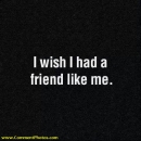 I wish I had a friend llike me