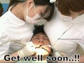 Get Well Soon - Funny Dentist Doctors Nurses Between Breasts