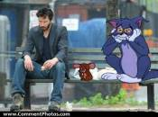 Keanu Reeves Sad - With Tom And Jerry