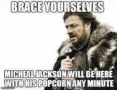 Brace Yourself - Michael Jackson Will Be Here with Popcorn any minute - I Just Came Here To Read The Comments - Michael Jackson Eating Popcorn - MJ in Thriller Theatre